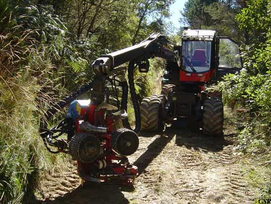 Cosechadora forestal